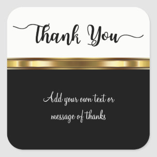 Classy Thank You Sticker Labels