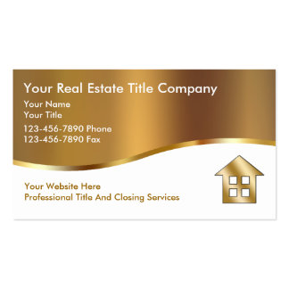 Classy Title Company Business Cards