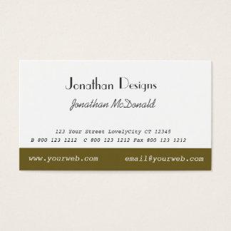 Classy Traditional Custom Unique Plain Modern Business Card