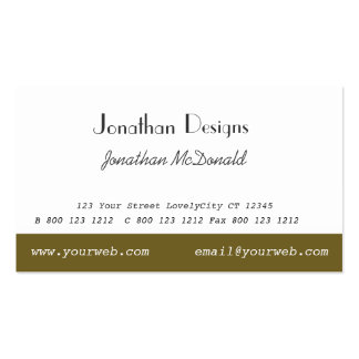 Classy Traditional Custom Unique Plain Modern Pack Of Standard Business Cards