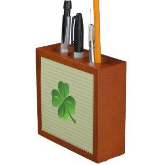 Classy Trendy  Irish Lucky Shamrock Desk Organiser