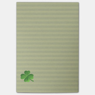 Classy Trendy  Irish Lucky Shamrock Post-it Notes