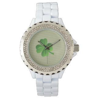 Classy Trendy  Irish Lucky Shamrock Watch