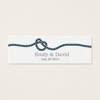 Classy Tying the Knot Wedding Website Insert Card
