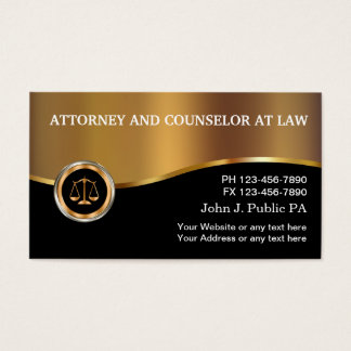 Classy Upscale Attorney Businesscards Business Card