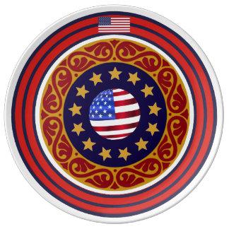 Classy USA Porcelain Plates