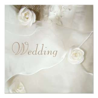 Classy Vintage Wedding Gown Wedding 13 Cm X 13 Cm Square Invitation Card