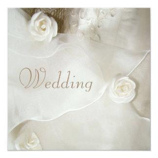 Classy Vintage Wedding Gown Wedding Card