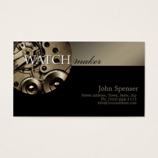Classy Watchmaker Business Card