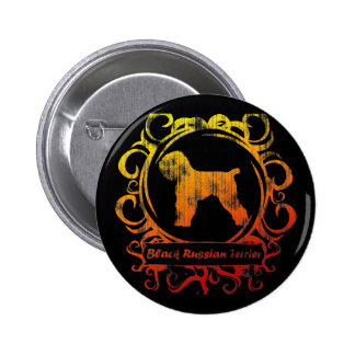 Classy Weathered Black Russian Terrier 6 Cm Round Badge