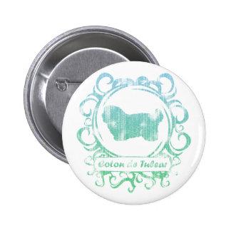 Classy Weathered Coton de Tulear 6 Cm Round Badge