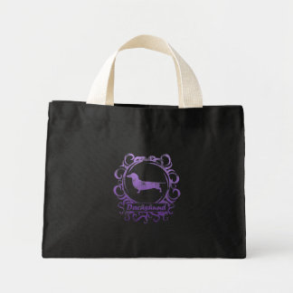 Classy Weathered Dachshund Mini Tote Bag