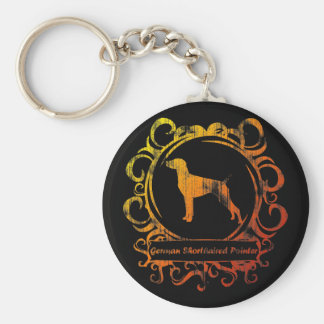 Classy Weathered German Shorthaired Pointer Key Ring