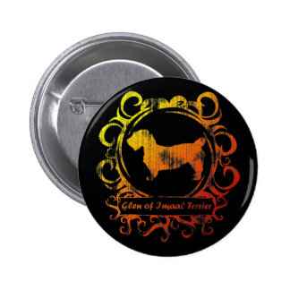 Classy Weathered Glen of Imaal Terrier Pinback Button