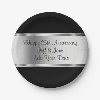 Classy Wedding Anniversary 7 Inch Paper Plate