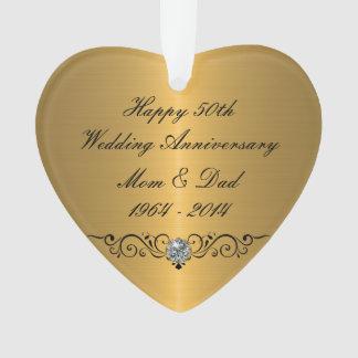 Classy Wedding Anniversary Ornament