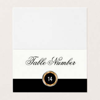 Classy Wedding Table Number Cards