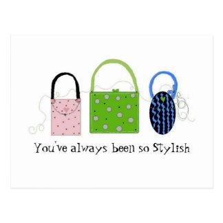 Classy Whimsical Handbags Postcard
