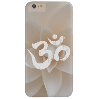Classy White Flower Om Symbol Yoga Barely There iPhone 6 Plus Case