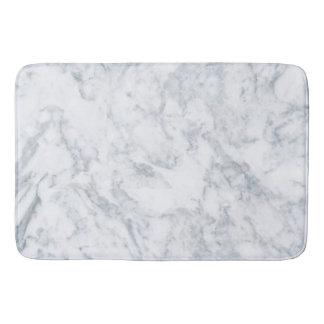 Classy White Marble Look Bath Mats