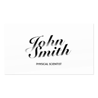 Classy White Physical Scientist Business Card
