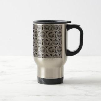 Classy white texture travel mug