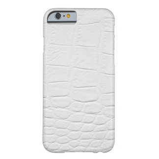 classy white vegan crocodile leather barely there iPhone 6 case