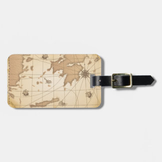 Classy World old map Luggage Tag