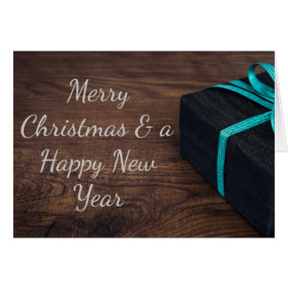 Classy wrapped Christmas Present Greeting Card