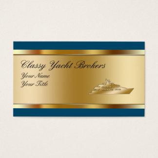 Classy Yacht Broker Business Cards