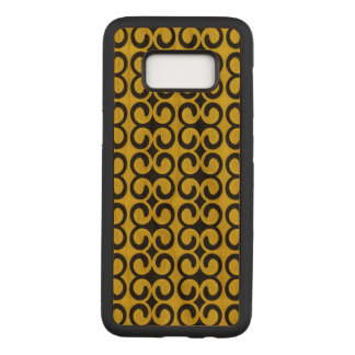 Classy Yellow and Black Pattern Carved Samsung Galaxy S8 Case