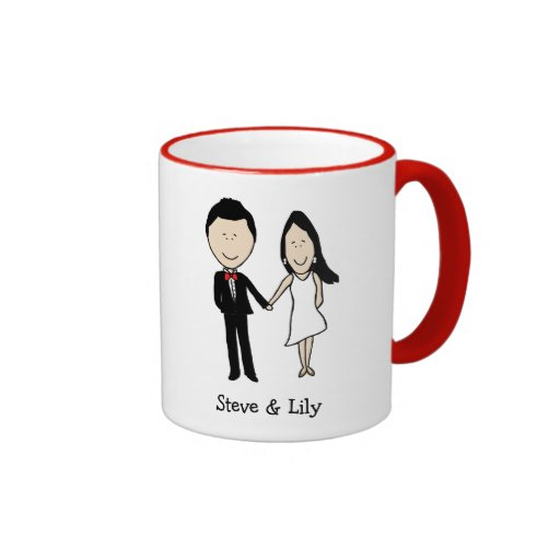 Classy young couple - custom colors mugs