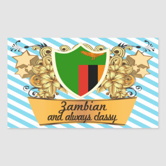 Classy Zambian Rectangular Sticker