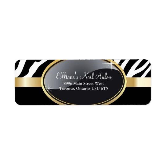 Classy Zebra Print Return Address Labels
