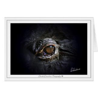 Claude Desrochers alligator eye Greeting Card