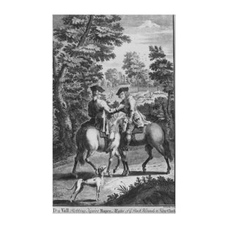 Claude Duval robbing Squire Roper Stretched Canvas Print