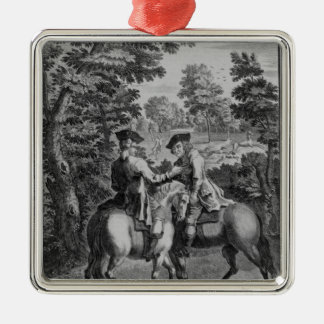 Claude Duval robbing Squire Roper Christmas Ornament
