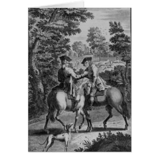 Claude Duval robbing Squire Roper Greeting Card