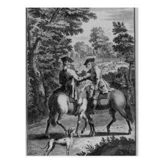 Claude Duval robbing Squire Roper Postcard