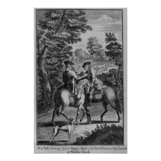 Claude Duval robbing Squire Roper Poster