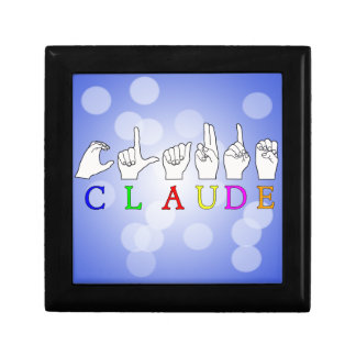 CLAUDE FINGERSPELLED ASL SIGN NAME GIFT BOX