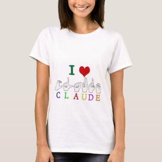 CLAUDE FINGERSPELLED ASL SIGN NAME T-Shirt