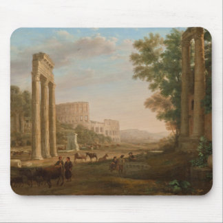 Claude Lorrain - Ruins of the Roman forum Mouse Pad