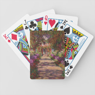 Claude Monet | A Pathway in Monet's Garden Bicycle Playing Cards