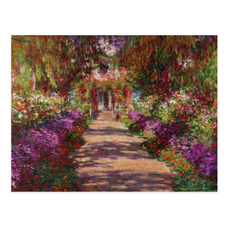 Claude Monet | A Pathway in Monet's Garden Postcard