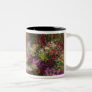 Claude Monet | A Pathway in Monet's Garden Two-Tone Coffee Mug
