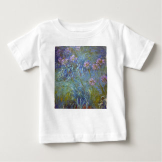 Claude Monet - Agapanthus Classic Flowers Painting Baby T-Shirt