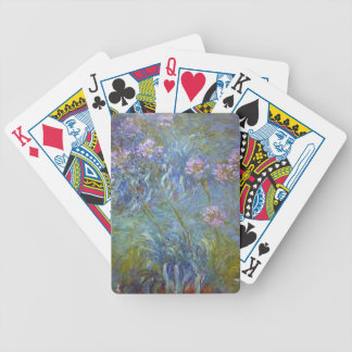 Claude Monet - Agapanthus Classic Flowers Painting Bicycle Playing Cards