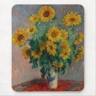 Claude Monet and Sunflower Mouse Pad