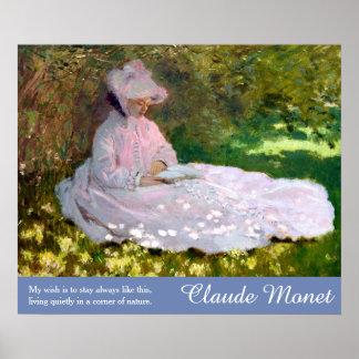 Claude Monet Art Nature Quote Springtime Painting Poster